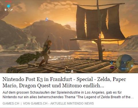Games.ch - Zelda - Paper Mario - Dragon Quest - Miitomo - Ulrich Wimmeroth