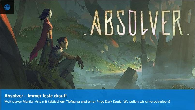 Playstation digital - Absolver - Ulrich Wimmeroth
