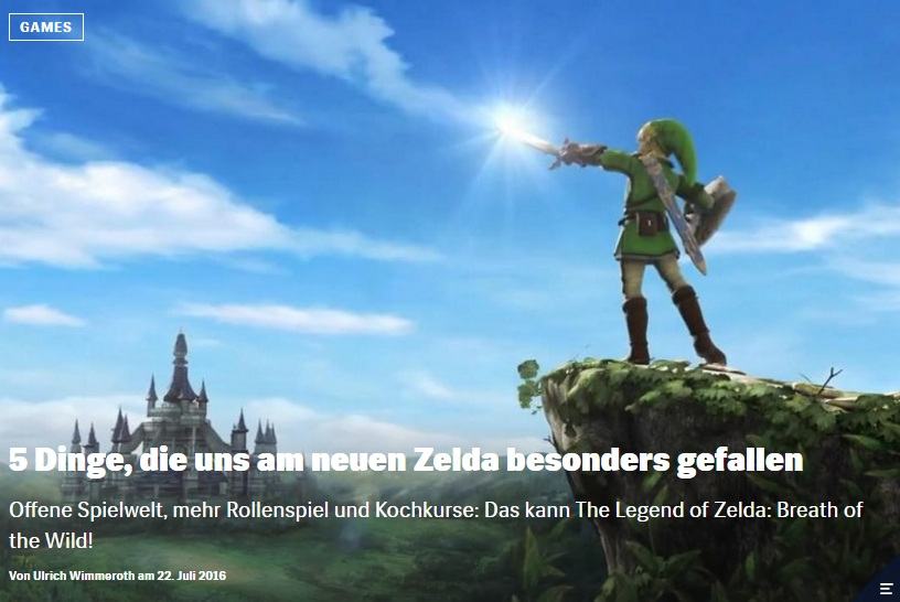 Red Bull Games - Zelda Breath of the Wild - Ulrich Wimmeroth