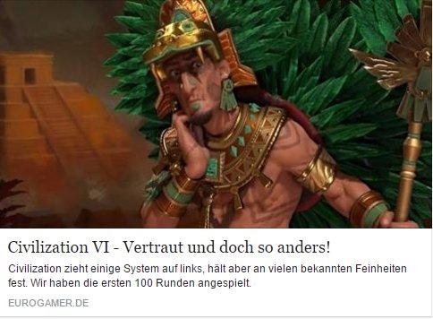 Eurogamer.de - Civilization VI - Ulrich Wimmeroth