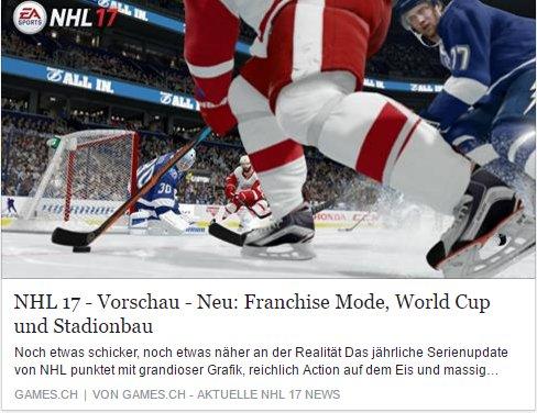 Games.ch - NHL 17 - Ulrich Wimmeroth