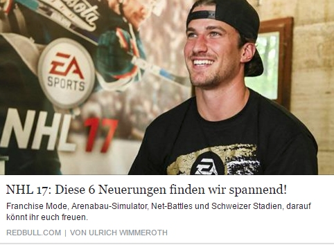 Red Bull Games - NHL 17 - Ulrich Wimmeroth