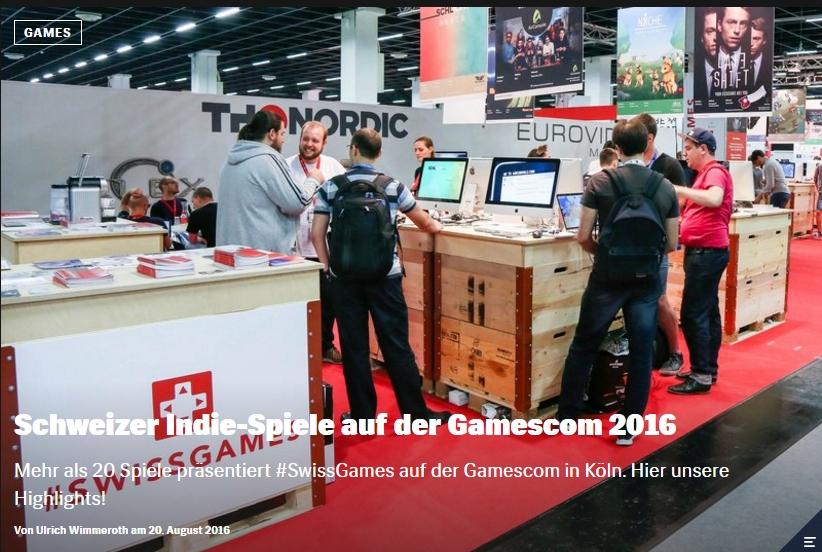Red Bull Games - Schweizer Indie-Spiele auf der Gamescom 2016 - Ulrich Wimmeroth