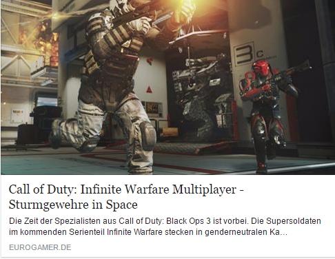 Eurogamer.de - Call of Duty Infinite Warfare - Ulrich Wimmeroth