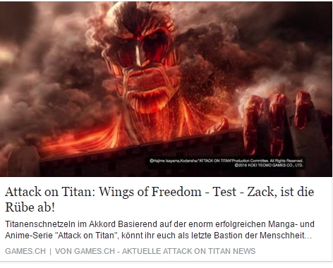 Games.ch - AOT Wings of Freedom Test - Ulrich Wimmeroth