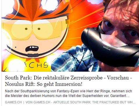 Games.ch - South Park - Die rektakulaere Zerreissprobe - Ulrich Wimmeroth