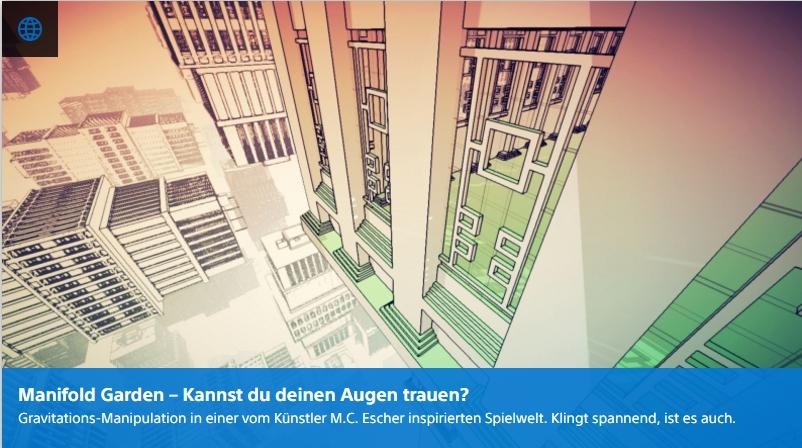 Playstation Digital - Manifold Garden - Ulrich Wimmeroth