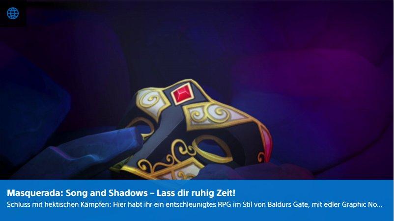 Playstation Digital - Masquerada Song and Shadows - Ulrich Wimmeroth