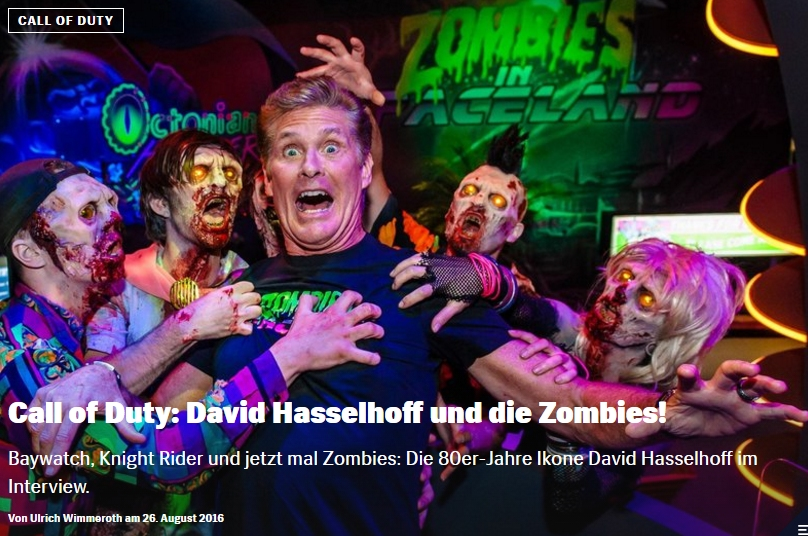 Red Bull Games - Call of Duty Zombies in Spaceland - David Hasselhoff Interview - Ulrich Wimmeroth