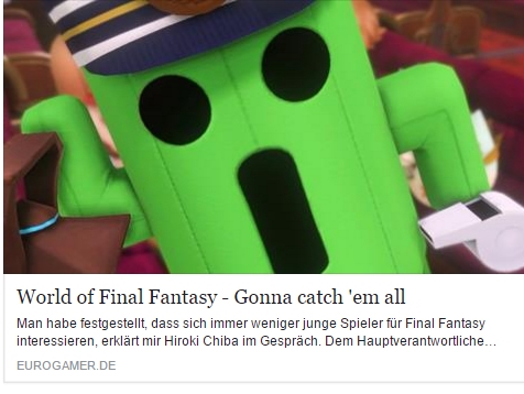 World of Final Fantasy – Gonna catch em all