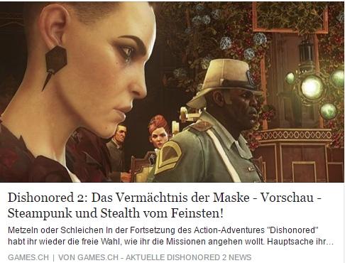 Dishonored 2 – Das Vermächtnis der Maske – Vorschau