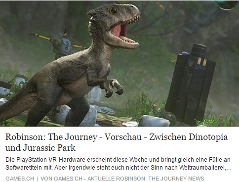 Robinson: The Journey – Zwischen Dinotopia und Jurassic Park